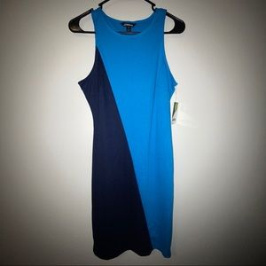 Project  Runway Two Tone Color Block Dress.